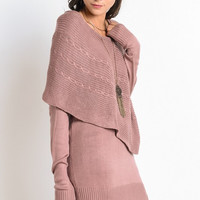 Layers of Warmth Sweater - Mauve