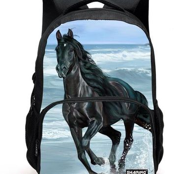 Boys Backpack Bag Big Size Animal 600D/PU  Men's 3D horse Printing school bags for School Casual College Student Laptop  AT_61_4