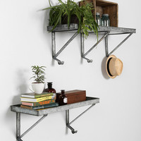 Galvanized Metal Wall Shelf