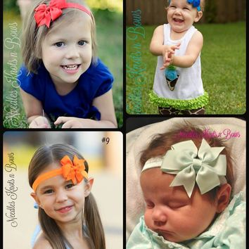 "Girls 3"" Pinwheel Headband, Baby Girls Headbands, Girls Hair Accessories, 20 Colors to Choose From"