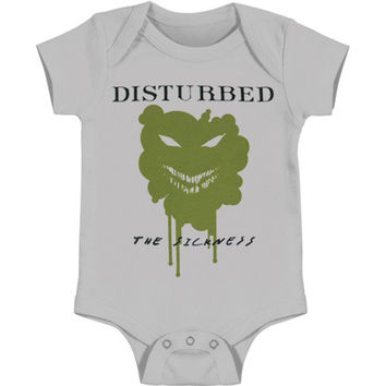 Disturbed Boys' Sickness Bodysuit Grey Rockabilia