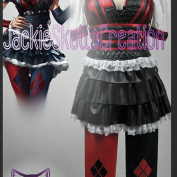 Batman Arkham Asylum City Harley Quinn Cosplay Costume