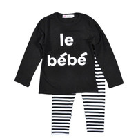 Lovely 2pcs Suit Baby Girl Clothes Infant Clothes Baby Boy Clothing Sets Cotton Letters Printed Newborn