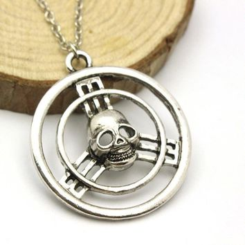 Mad Max Fury Road Skull Steering Wheel Necklace