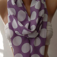 Dance of the Colors Collection  / Lilac -  Infinity - Loop - Circle - Elegant - Chiffon - Feminine - Summer - Shawl - Scarf