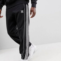 Adidas New fashion letter sports leisure loose men pants Black
