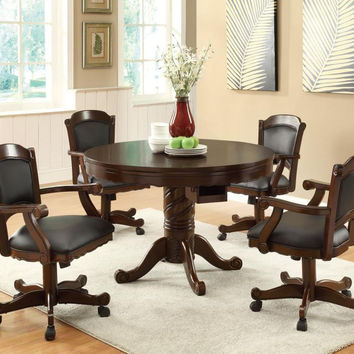Coaster Fine Furniture Convertible Dining Table (Bumper Pool & Poker) Brown 100871