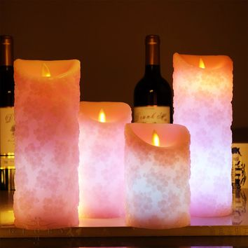 Remote control Flameless Candles Color Changing LED Candle with Timer scented bougie candle Electric Wedding Decoration