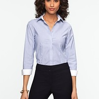 Talbots - Wrinkle-Resistant Stripes Shirt | Blouses and Shirts | Misses