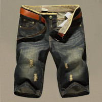 Cheap Shipping Summer Short Jeans Trousers For Men Hot Sale Fashion Casual men jeans Hot!