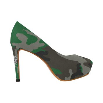 NFA The Original Green Camo High Heels