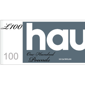 HAUS GIFT VOUCHER - VALUE £100 //