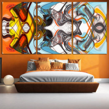 Art Abstract Wall Decor - Multi-Colored Pattern Printable Wall Art, Colorful Art Photo on Canvas for Home or Office Decoration