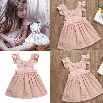 Cute Baby Kids Girls Dress Toddler Princess Party Tutu Summer Floral Dresses