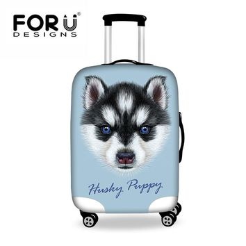 FORUDESIGNS Husky Cute Travel Suitcase Cover Animals Print Anti-scratch Luggage Covers for 18-28 Inch Trolley Case Brand NewHot