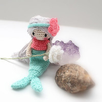 Amigurumi Little Mermaid: Crochet Mermaid Doll, Waldorf Inspired, Montessori, Pretend Play