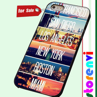 Cities La Miami Boston Ny Sd Sf Retro custom case for smartphone case