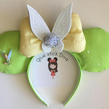 Tinkerbell Inspired Glow in the Dark Mouse Ears