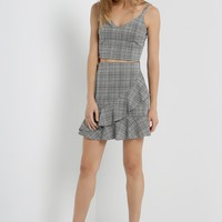 Ruffle Glen Plaid Skirt