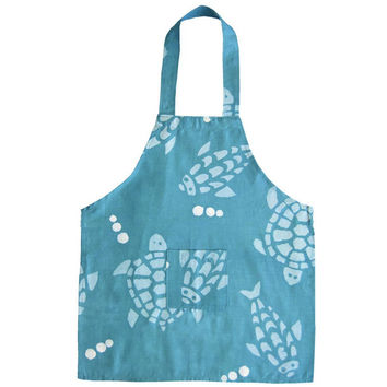 Kids Apron - Fair Trade Blue Turtles