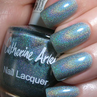 NOTD: Catherine Arley ? 674 ? baby blue holo | The Swatchaholic . a blog about nail polish and makeup