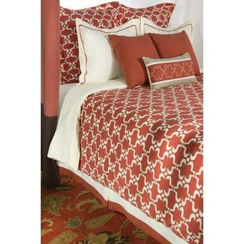 Rizzy Home 10 Piece California Duvet Bed Set In Paprika And Cream