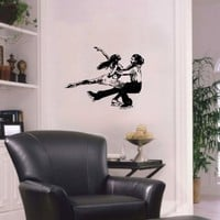 Housewares Wall Vinyl Decal Sport Figure Skating Skaters Man and Woman Dancing on Ice Home Art Decor Kids Nursery Removable Stylish Sticker Mural Unique Design for Any Room