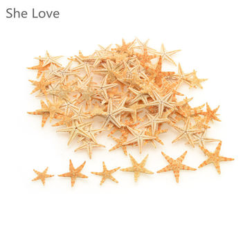 100pcs Mini Starfish Craft Decoration Natural Sea Stars DIY Beach Cottage Wedding Decor