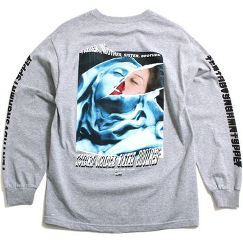 La Madonna Longsleeve T-Shirt Heather Grey