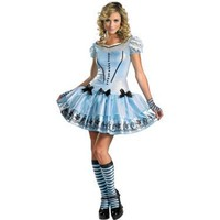 Alice In Wonderland Movie - Sassy Blue Dress Alice Adult Costume - Costumes, 800250