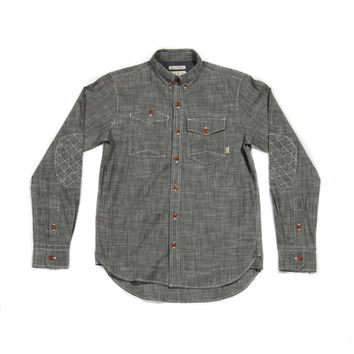 Woven Charcoal Grey Chambray - Almond Surfboards