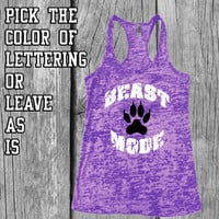 Burnout Tank Top - Beast Mode - Workout Fitness Tank - Purple Burnout Tank - Workout Tank