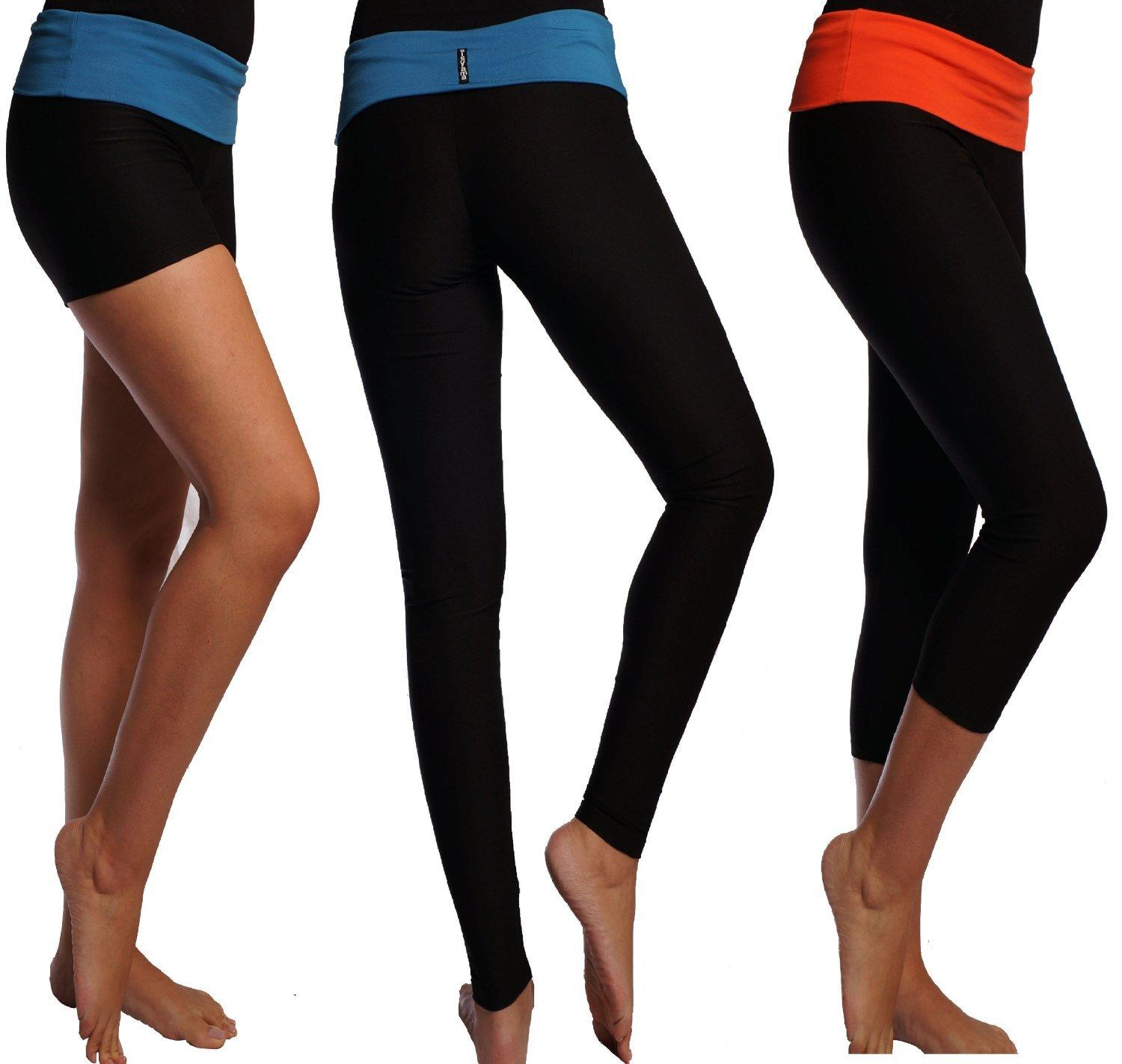 Dry Fit Yoga Workout Foldover Shorts From Amazon