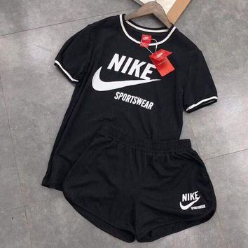 """""""NIKE"""" Print Round Neck Pullover Top Pants Set Two-Piece Sportswear"""