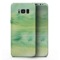 Green 321 Absorbed Watercolor Texture - Samsung Galaxy S8 Full-Body Skin Kit