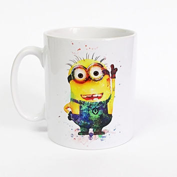 Minion Despicable Me Kids Mug Minion Mug Milk Cup Watercolor Art Cup Coffee Mug Minion Cup Tea Mug Birthday Gift Coffee Cup Despicable Me
