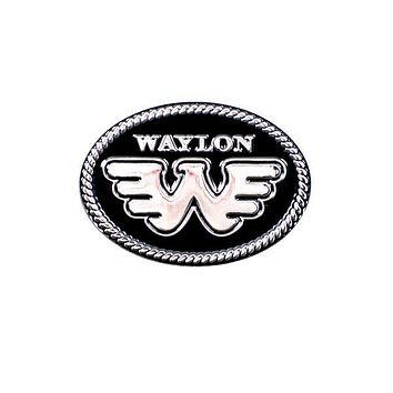 Flying W Waylon Jennings Pin - Black