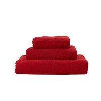 Super Pile Rouge Towels by Abyss and Habidecor