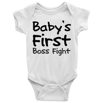 Baby's First Boss Fight Baby Onesuit