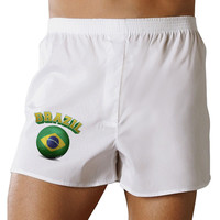 Soccer Ball Flag - Brazil Boxer Shorts
