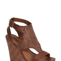 "Women's Lucky Brand 'Laffertie' T-Strap Wedge Sandal, 4"" heel"