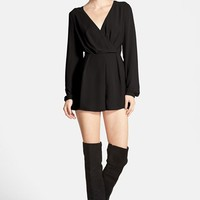 Women's Glamorous Surplice Long Sleeve Romper
