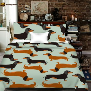 Dachshund All Over Print Bedding Set