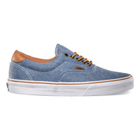 Vans Washed Twill Era 59 Mens Shoes Blue  In Sizes