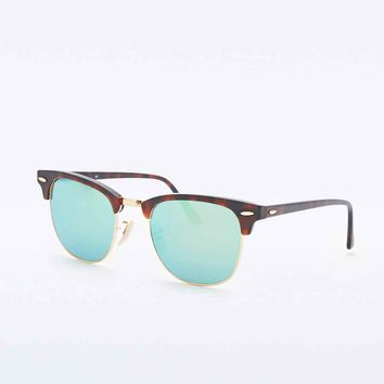 Ray-Ban Clubmaster Sunglasses in Green Flash - Urban Outfitters