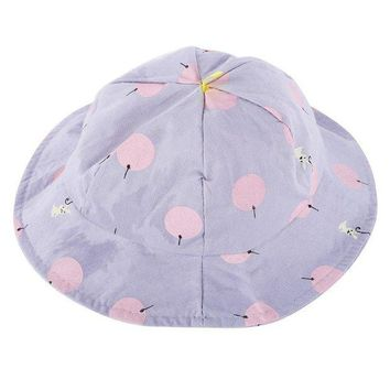 CUPUP9G Toddler Infant Hats Sun Cap Polka Dot Summer Outdoor Baby Girl Hats Beach Bucket Sun Hat LC48