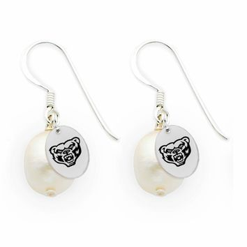Buy Oakland Golden Grizzlies Silver and Freshwater Pearl Drop Earrings