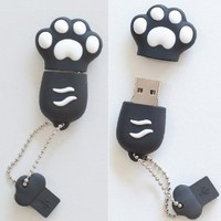 "Premium Black ""Paw"" USB Flash Memory Drive 16GB"