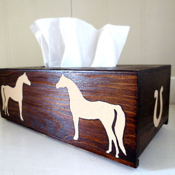 Arabian Horse tissue cover box
