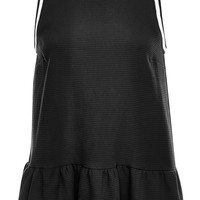Averil Cotton Piquet Sleeveless Peplum Top